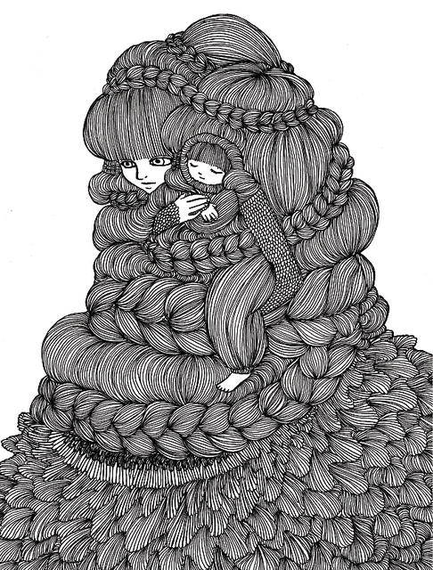 Ani castillo illustration oldskull 6