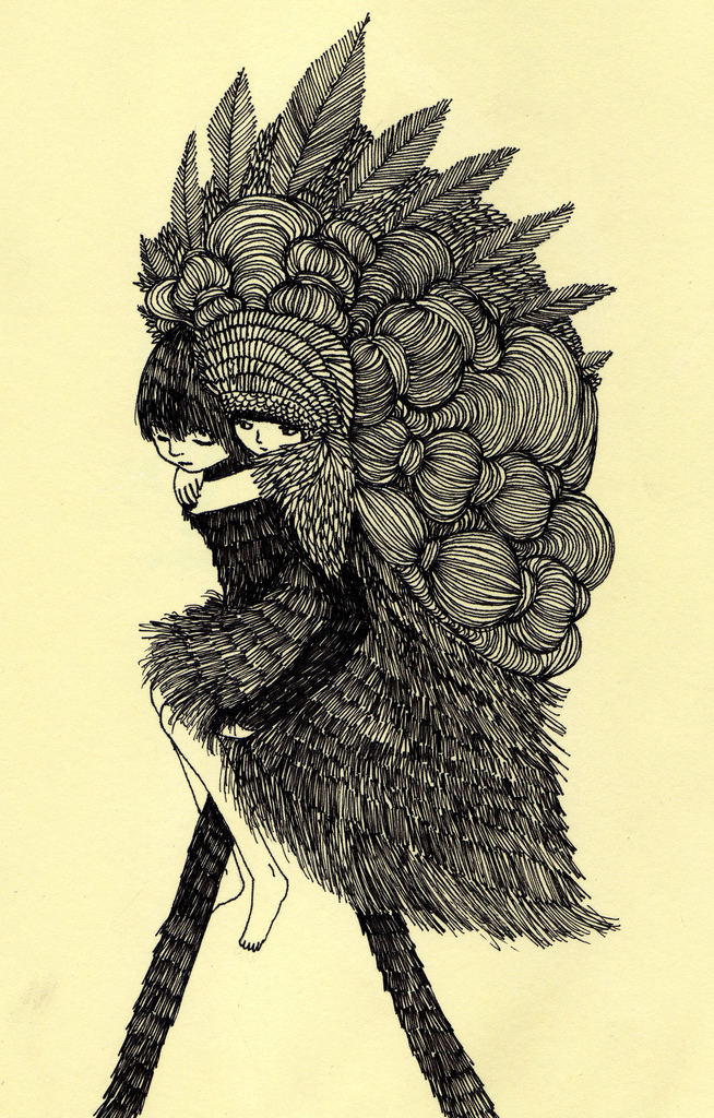 Ani castillo illustration oldskull 7