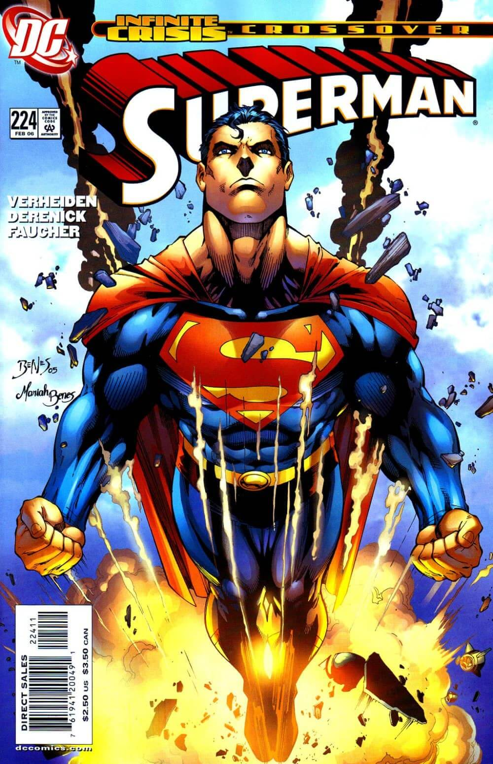 Superman 224 Infinite Crisis cover