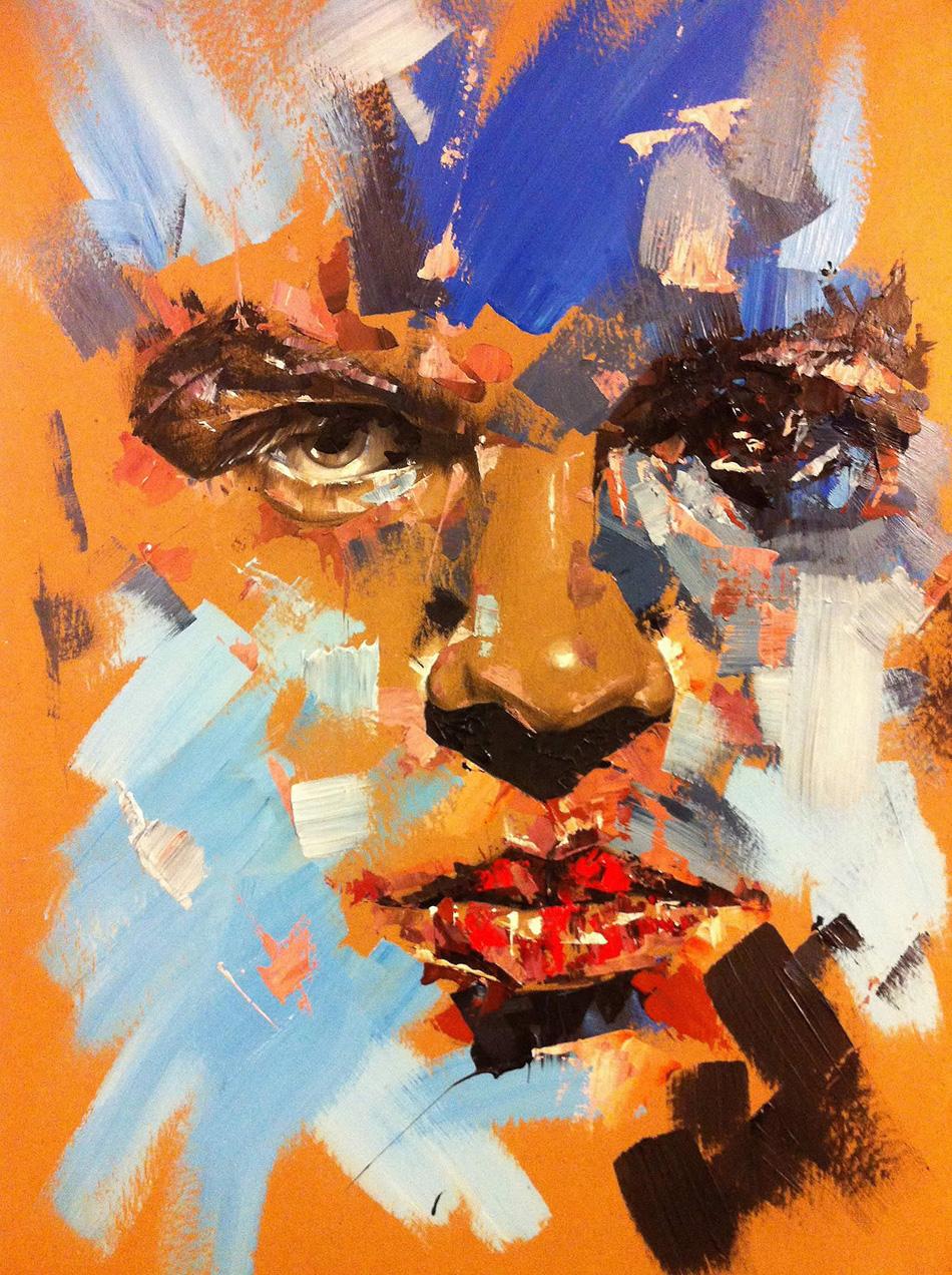 Arte a pinceladas, retrato de joshep lee