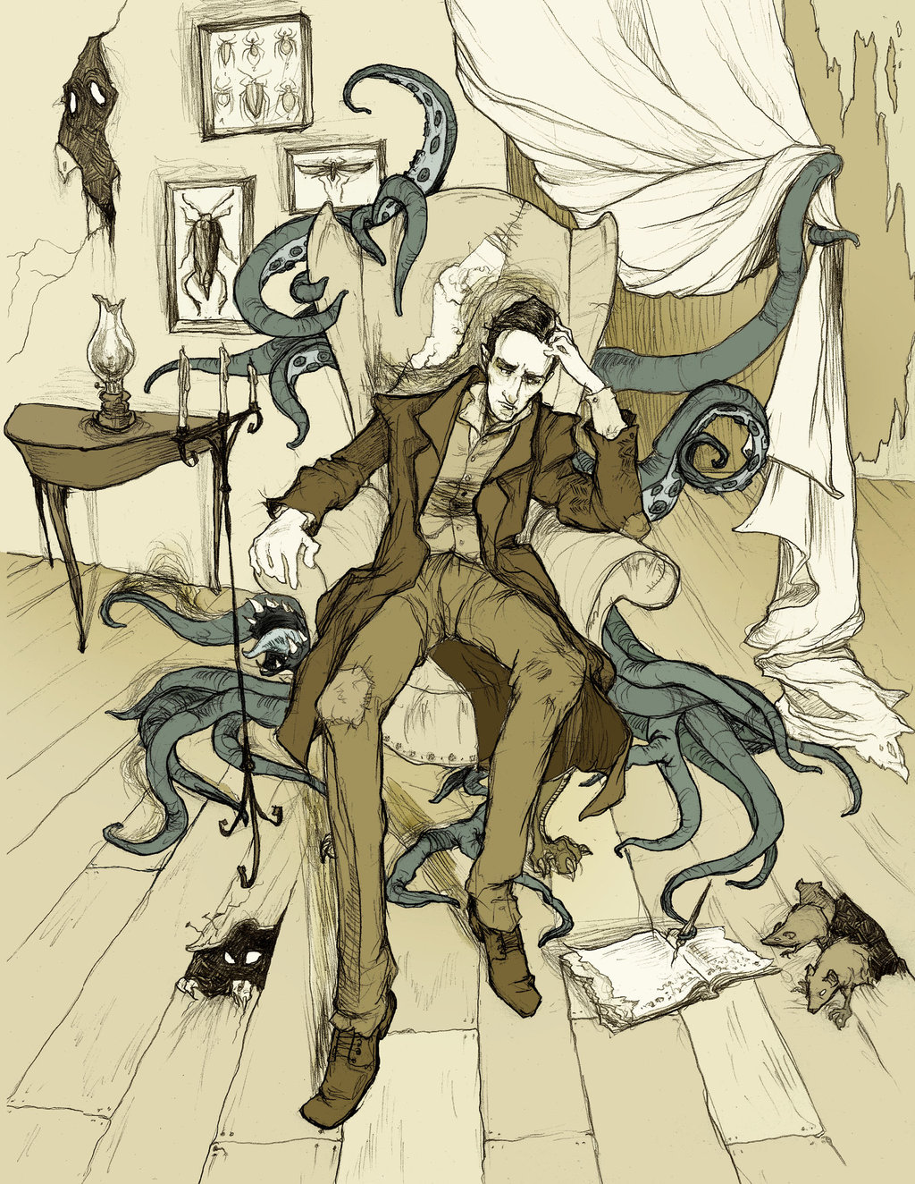 H_P__Lovecraft_by_Abigail Larson