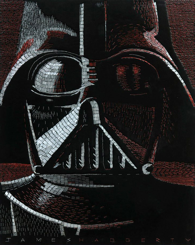 awesome star wars mosaic with staples oldskull 1