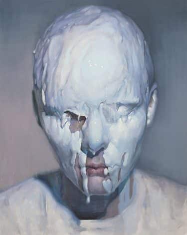 pintura de un rostro derretido