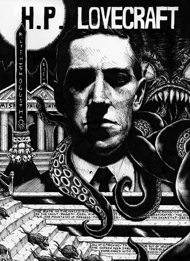Ilustración de hp lovecraft