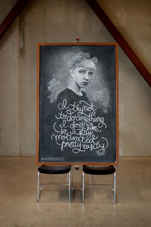 citas famosas en una pizarra illustration oldskull 15