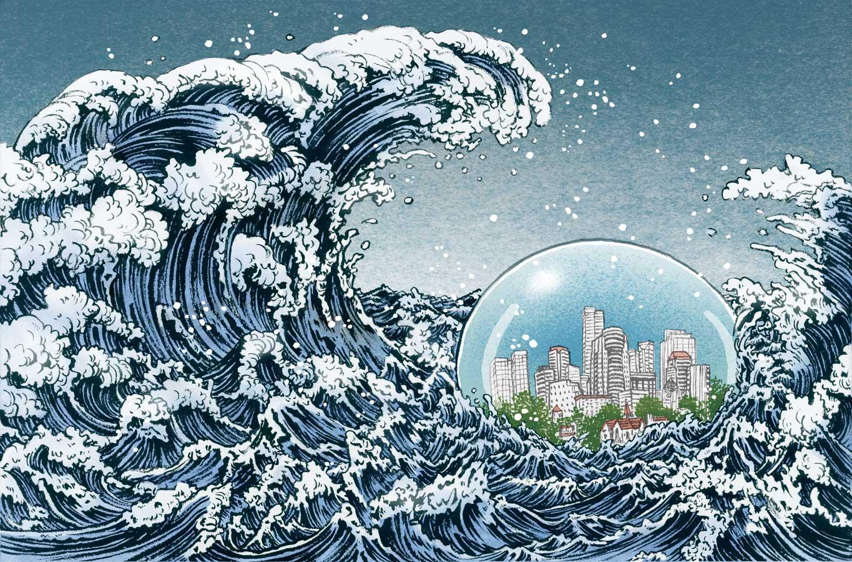 yuko shimizu kanagawa wave illustration oldskull