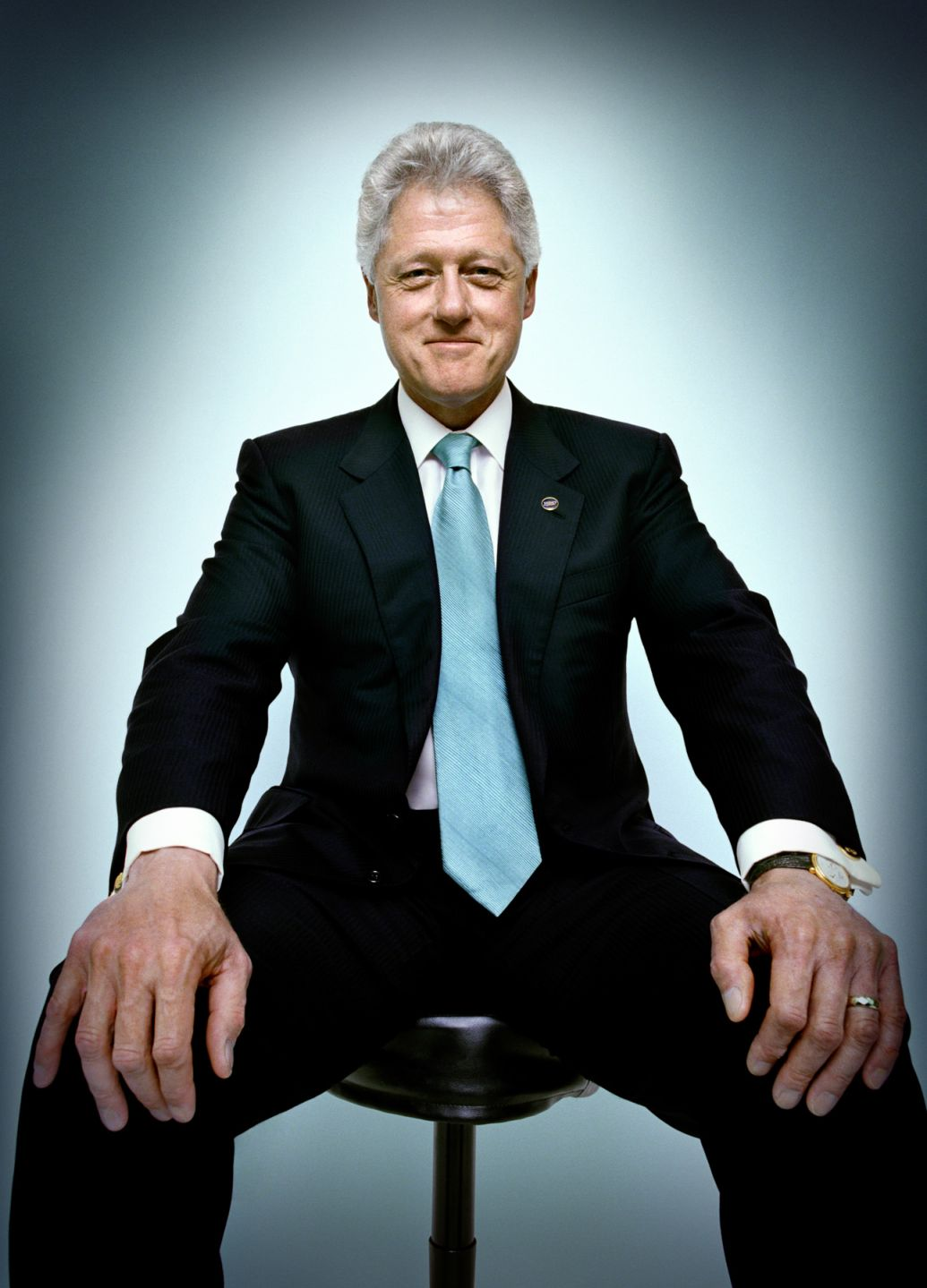 Bill Clinton portrait photography