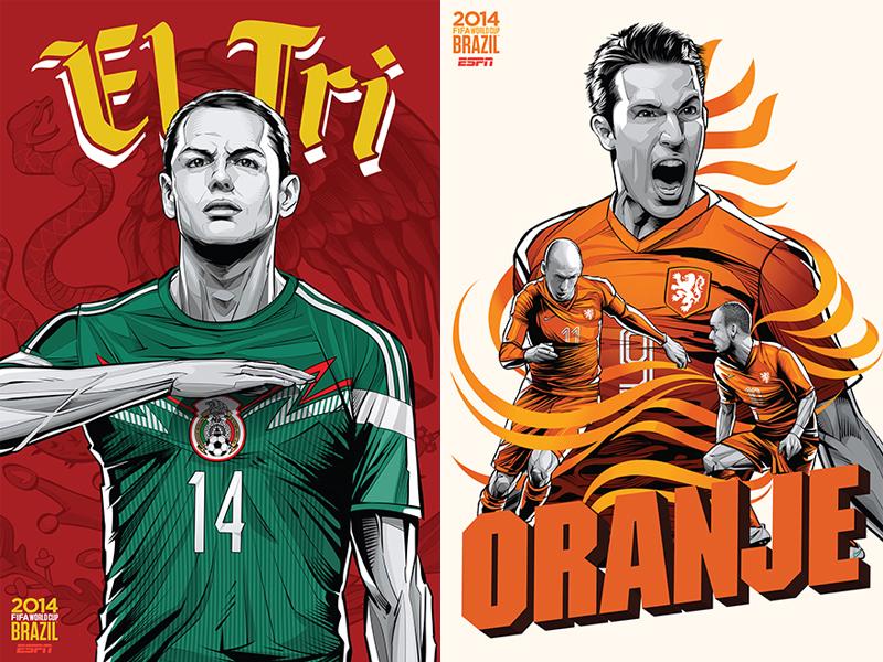 ESPN-ILUSTRACION-MUNDIAL-2014-MEXICO-NETHERLANDS