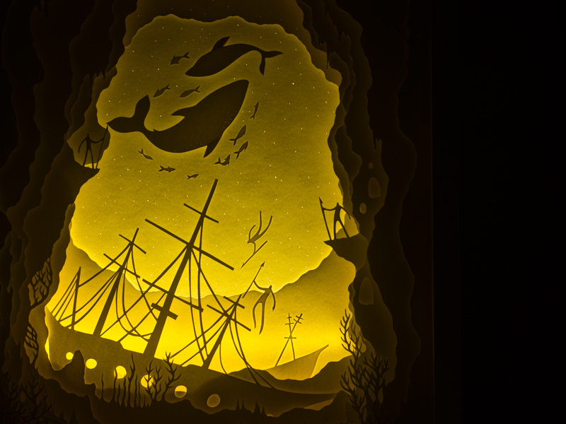 cajas de luz papel oldskull-2