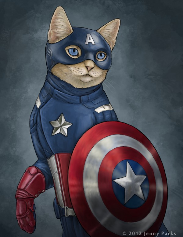 captain-america-gatos-superheroes-jenny-parks-oldskull
