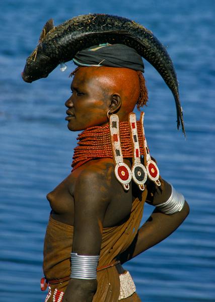 Turkana Woman with Beaded Collar, Kenya