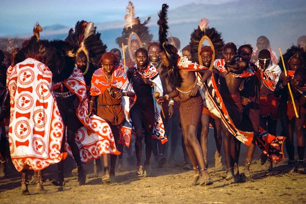 Maasai Warriors Arrive for the Eunoto Ceremony, Kenya