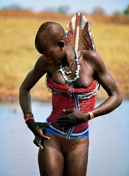 Dinka Woman in Corset