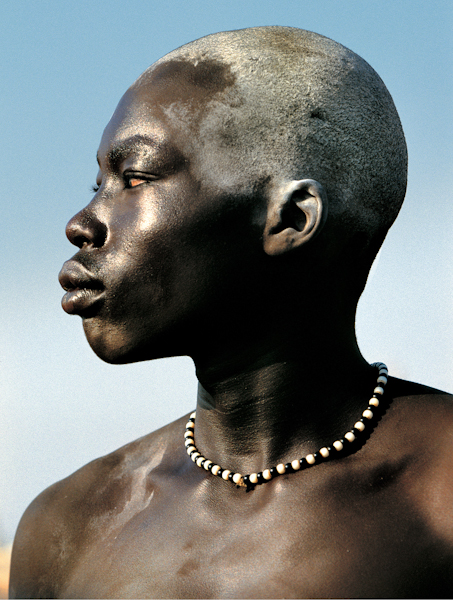 Dinka Man Covered with Oil