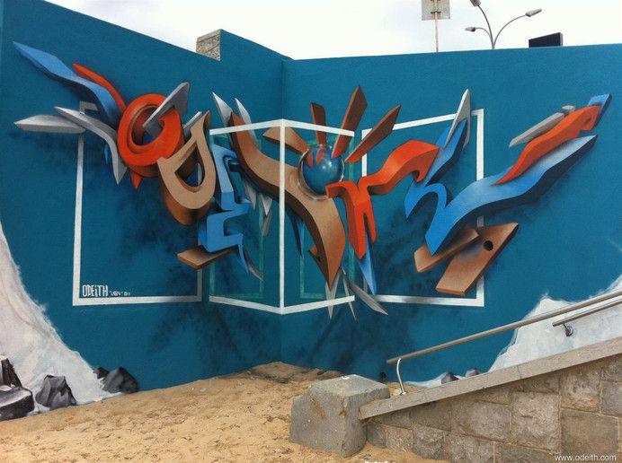 3d graffitti odeith new 2015
