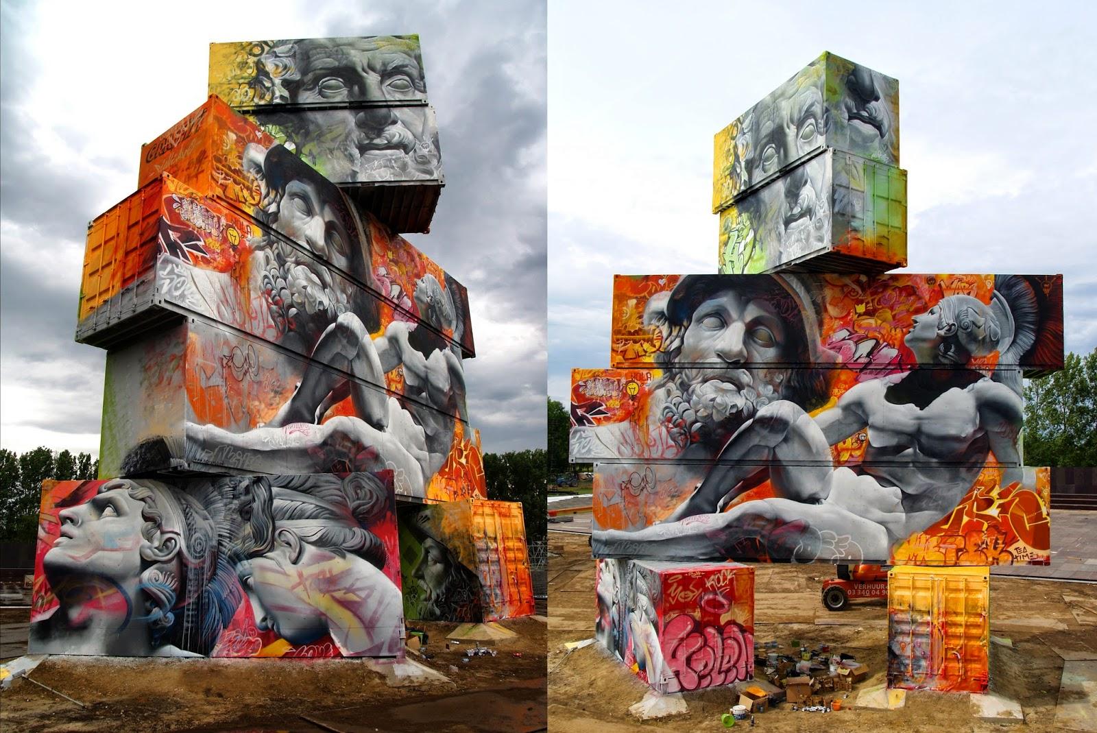 arte clásico en forma de graffiti por PichiAvo