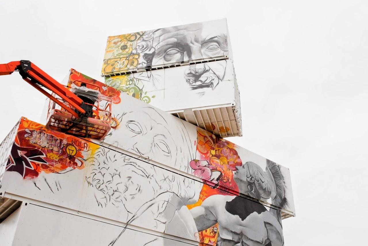 Proceso de creación de graffiti por pichiavo
