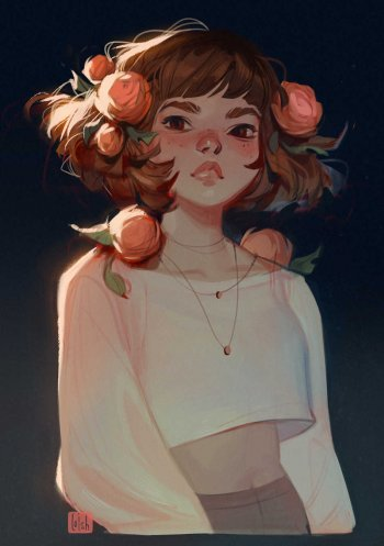 chica ilustrada por loish