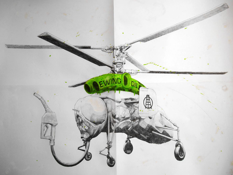 DIBUJO DE LUDO helicoptero