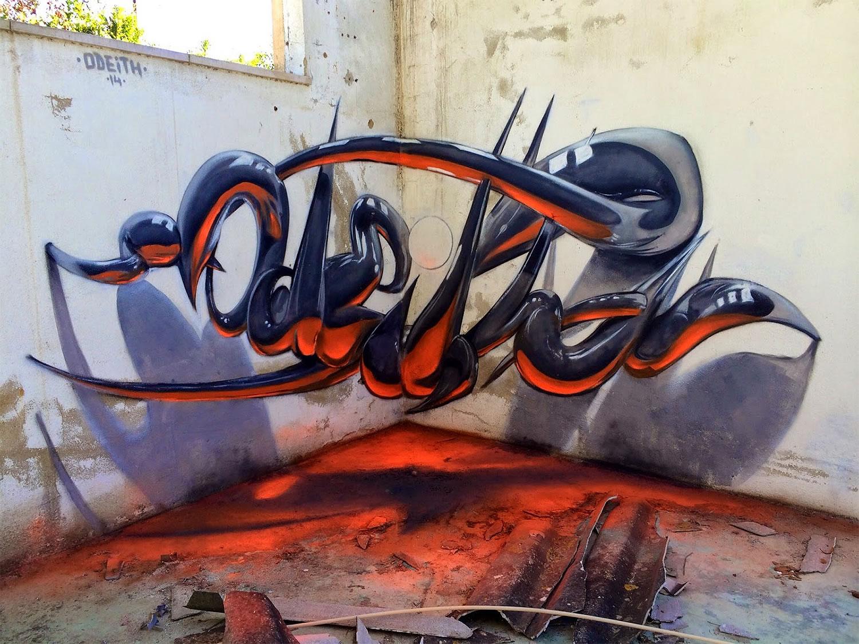 graffiti en 3d de Odeith