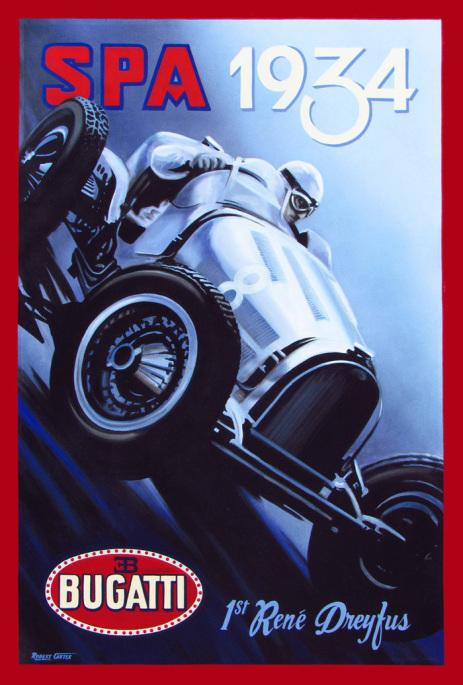 1934-spa carteles de coches vintage