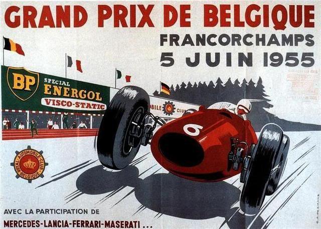 1955-belgica-grand-prix carteles de coches vintage