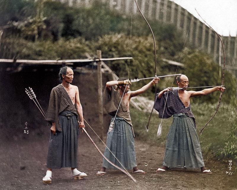 Arqueros japonenes 1860