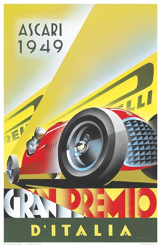 ascara 1949 careteles de carreras vintage