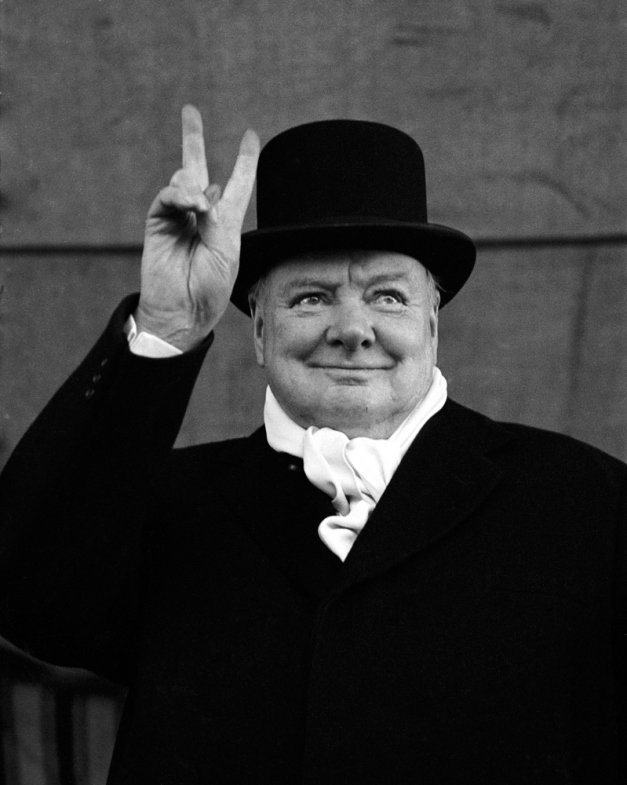 WINSTON CHURCHILL photo by Alfred Eisenstaedt