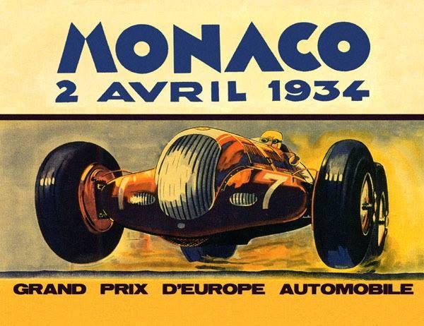 monaco 1934 carteles de coches