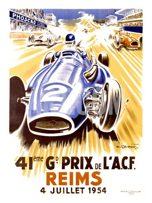 reims grand prix carteles coches