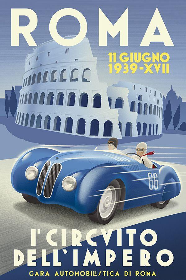 roma grand prix carteles de coches