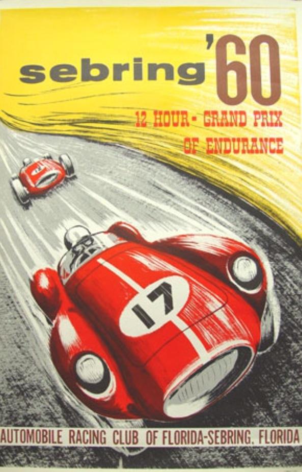 sebring carteles de coches vintage