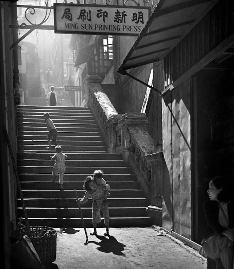 Calle de HongKong en el año 1955