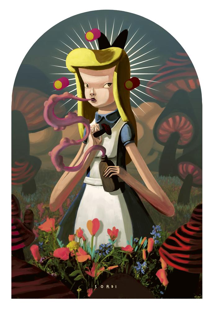 ilustración de una muñeca por alejandro Sordi