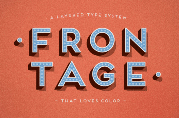 frontage free font 1
