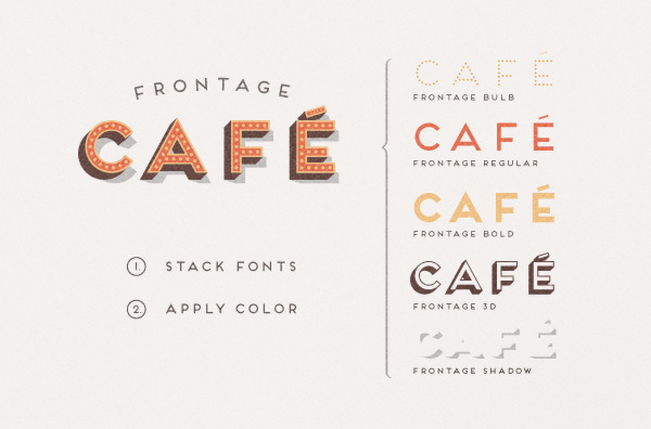 frontage free font 3