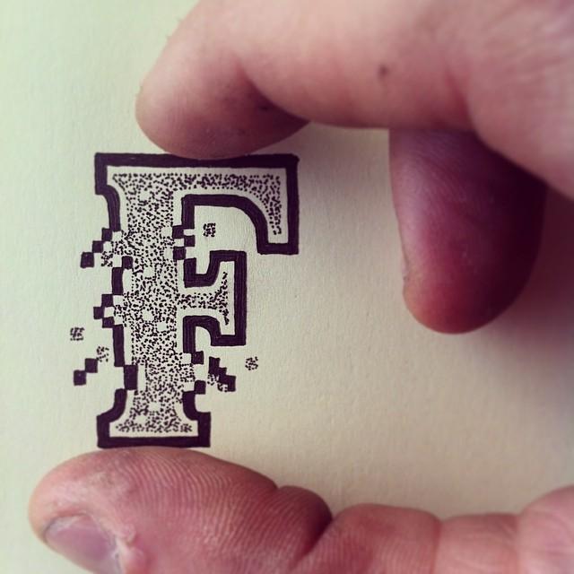 Efecto DE TIPOGRafía 3d con la letra F
