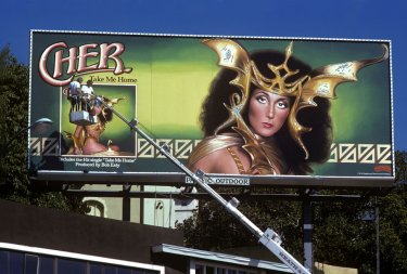 Cartel de la cantante cher en sunset strip