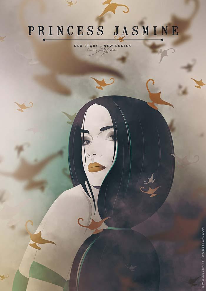 dibujo de la pincesa disney jasmin de aladin