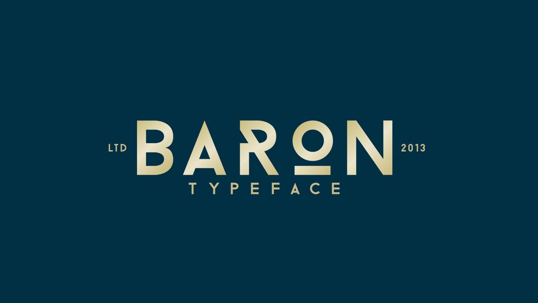 baron free font