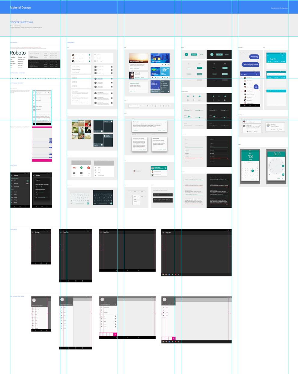 ejemplos de diseños y componentes que google nos regala