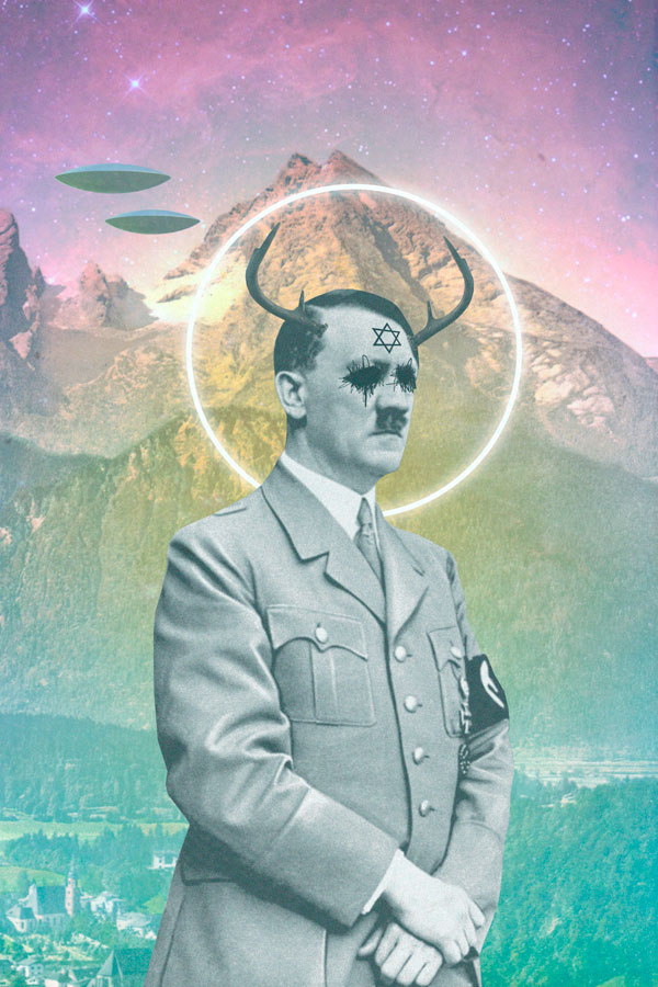 Collage digital con adolf hitler y cruz de david por David Fallow