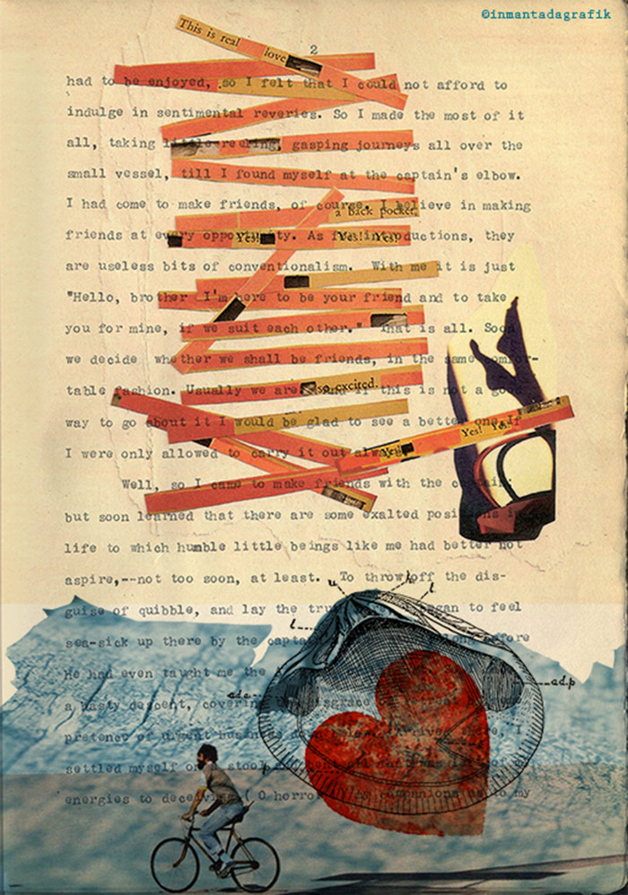 diseño de collage con textos