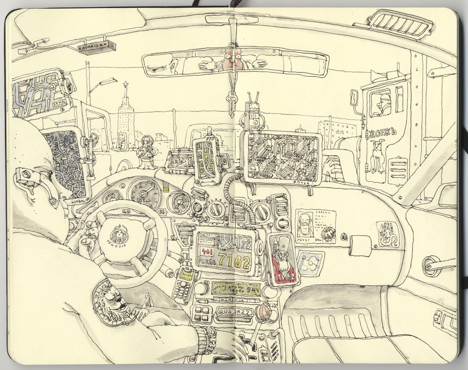Mattias Adolfsson sketch illustration 1