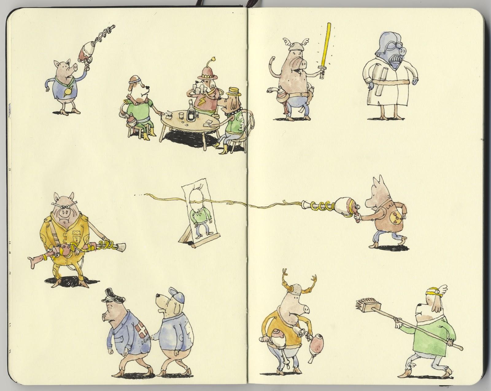 Mattias Adolfsson sketch illustration 2