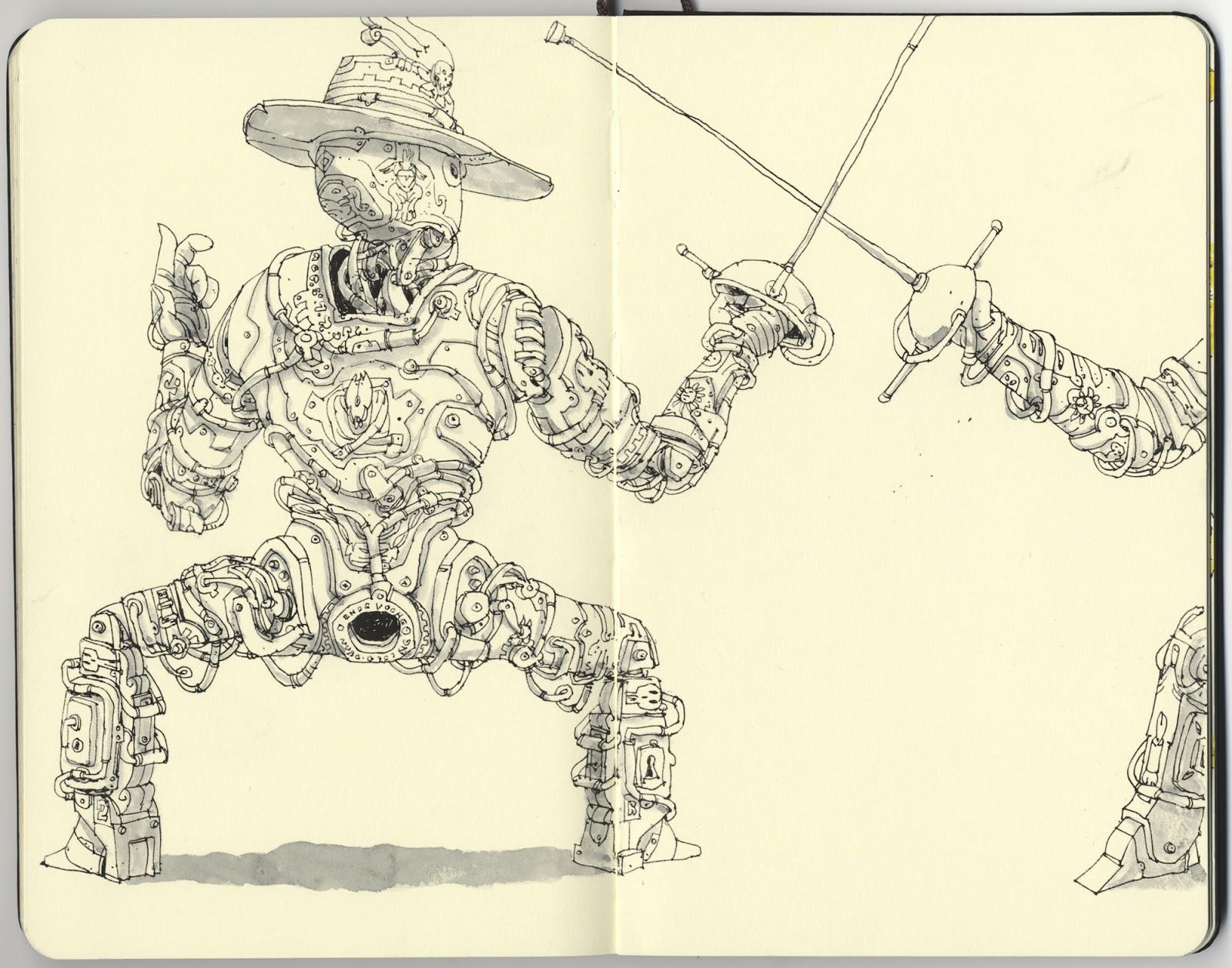 Mattias Adolfsson sketch illustration 4