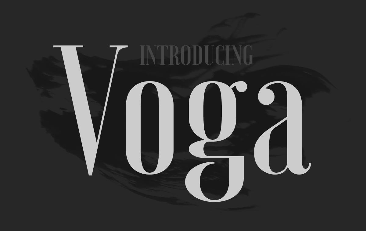 Voga free font 1