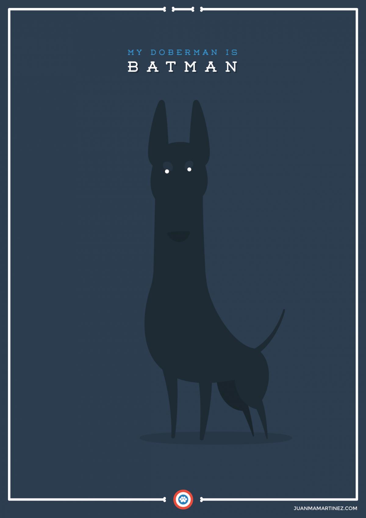 extraordinary-doggies-illustration-batman