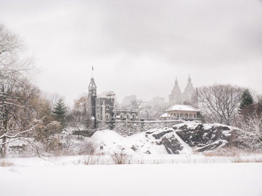 """""""Central Park Winter- Belvedere Castle in the Snow - New York City"""""""